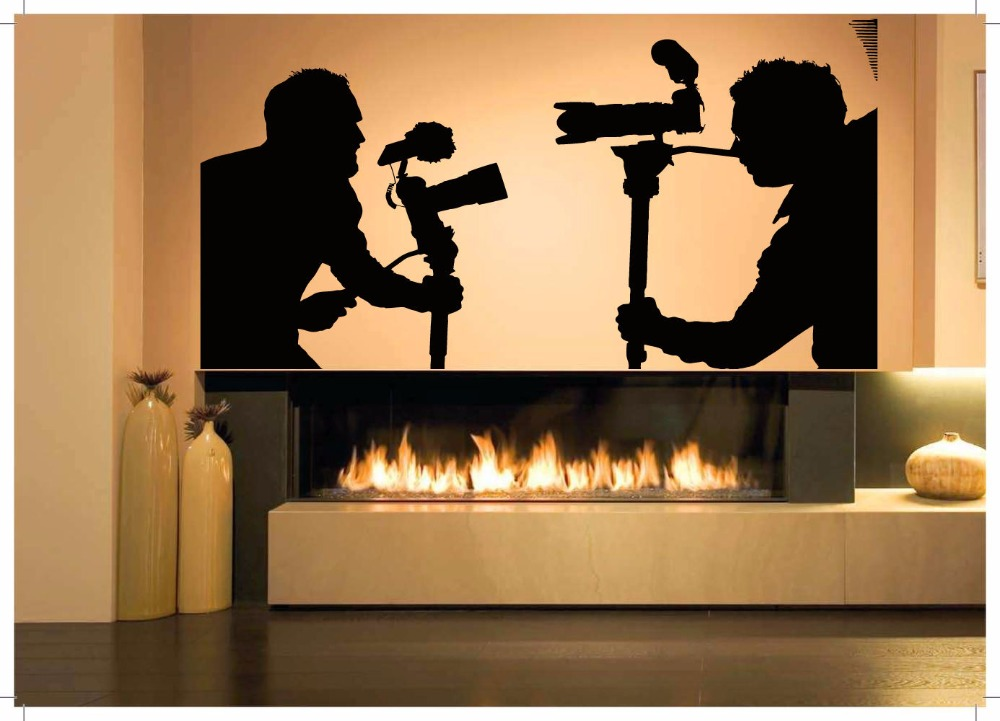 camera man vinyl wall decal movie photographer man studio art wall