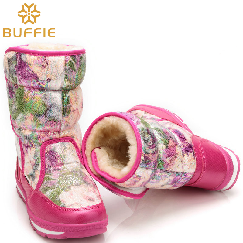 pink rose Snow boots women winter boots lady fashion warm shoes waterproof high quality brand BUFFIE style thick fur lining free australia classic lady shoes high quality waterproof genuine leather snow boots fur winter boots warm classic women ug boots