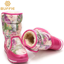 women snow boots girl winter boots lady fashion warm boots mother daughter boots waterproof high quality brand BUFFIE style good