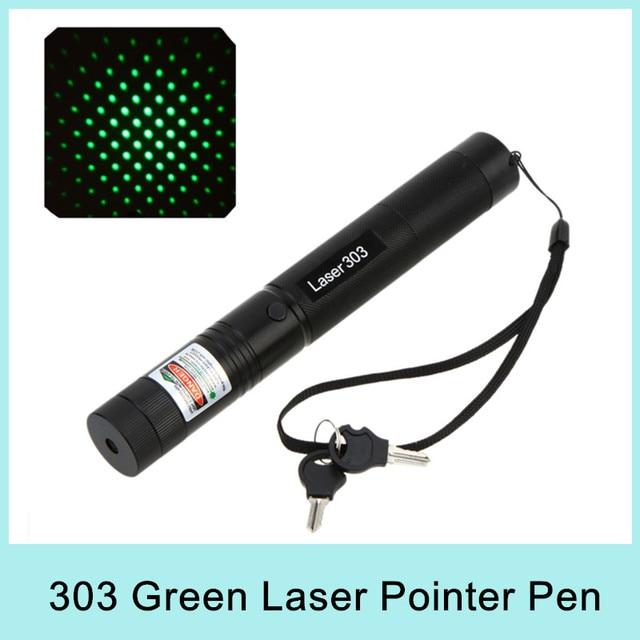 Hot Sale Top Laser 303 Green Laser Pointer Adjustable Focal Length Laser Pen 200mW with Star Pattern Filter 532nm Drop Shipping