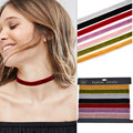 7 Pcs/Set Black Velvet Choker Necklaces For Women Pendant Necklace Fashion Girls Punk Gothic Cho collier ras du cou