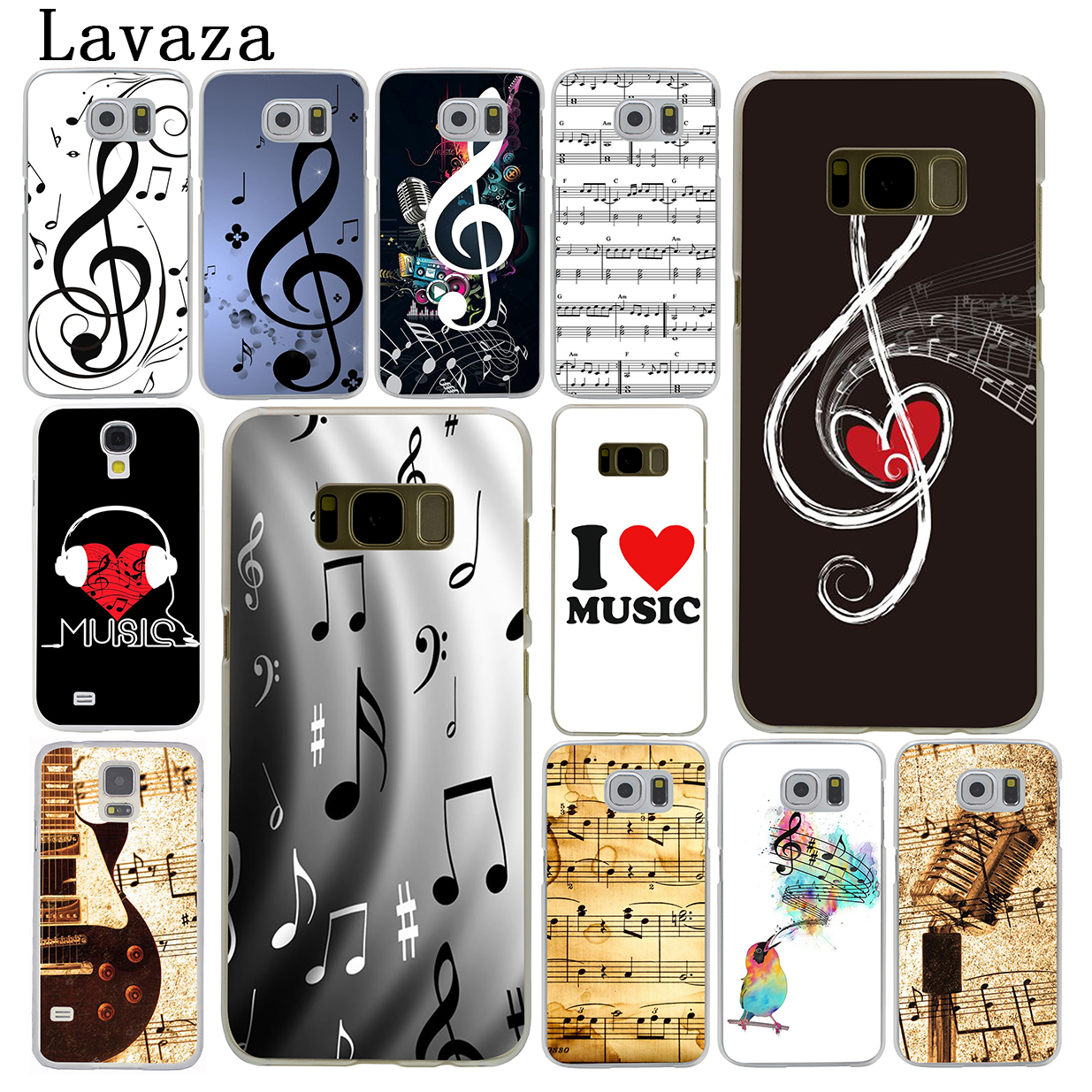 2019 Latest Design Lavaza Old Musical Note Hard Phone Case For Samsung Galaxy S6 S7 Edge S8 S9 S10 Plus S10e Cover Punctual Timing