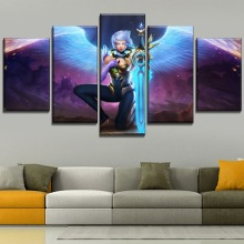 Home Decor Angel Warrior Riven League Of Legends Modular Canvas Print Picture 5 Piece Game Painting Large Poster Wall Artwork