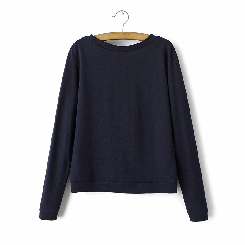 Navy Blue Sweatshirt Womenu2019S - Breeze Clothing