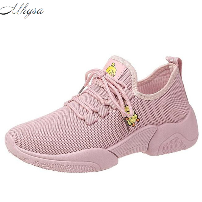 Mhysa 2019 new ladies casual shoes spring autumn fashion small yellow duck breathable mesh ladies shoes flat shoes sneakers L264Mhysa 2019 new ladies casual shoes spring autumn fashion small yellow duck breathable mesh ladies shoes flat shoes sneakers L264