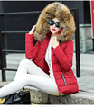 New 2016 Winter Coat Women Real Raccoon Fur Collar Winter Jacket Women Hooded Warm Winter Outerwear Female Jacket Down Parkas