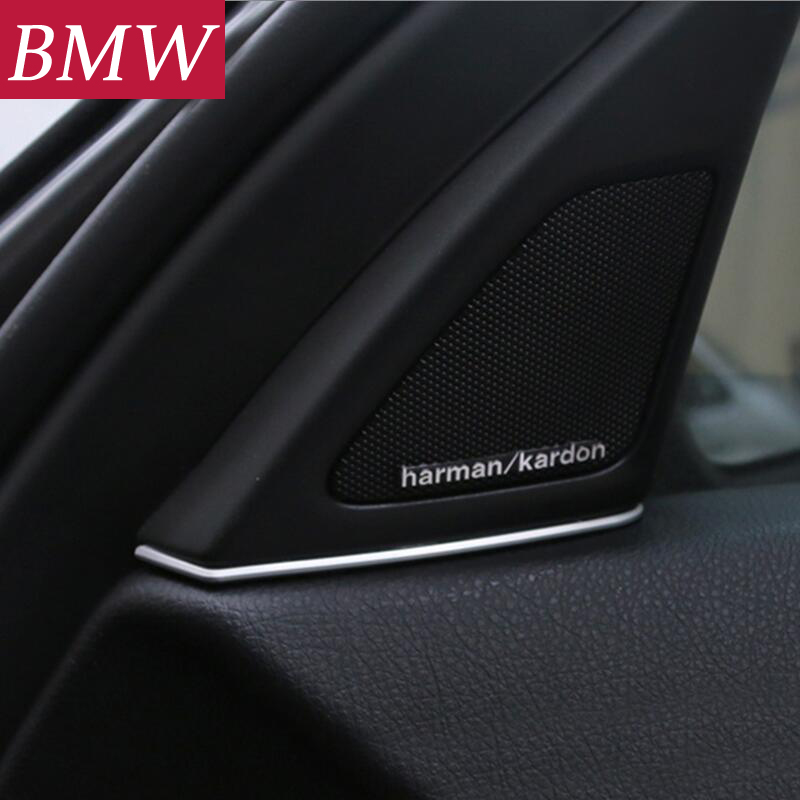 Car-Styling Internal Front Door Audio Speaker Strip Stereo Decal Cover Trim Mouldings <font><b>Sticker</b></font> For <font><b>BMW</b></font> 5 Series 525 520 <font><b>F10</b></font> F18 image
