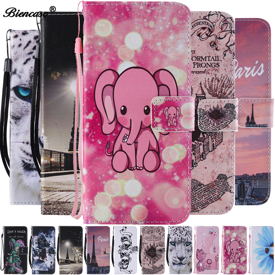 Elephant Case For Moto One Power P30 Play G4 G5 Plus Leather Stand Cover For Iphone 5 5S SE 6 6S 7 8 Plus Xr XS Max Touch 5 C128