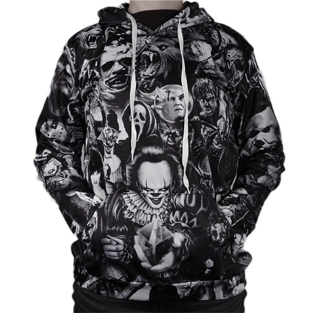 New Fashion 3D Print  Stephen King/'s IT /& Friday 13  Hoodies Sweatshirts