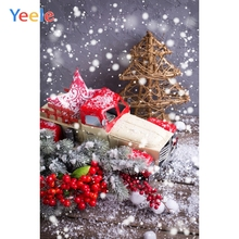 Yeele Christmas Photocall Bokeh Snow Tree Car Toys Photography Backdrops Personalized Photographic Backgrounds For Photo Studio