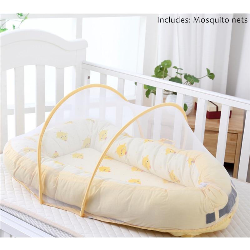 Bébé Alcofa nid lit Portable lit de voyage lit infantile enfant en bas âge coton berceau Portable nacelle pour nouveau-né bébé couffin pare-chocs - 3