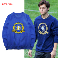 Stock Movie Spiderman Homecoming Blue Fleece Pullover Peter Cosplay Sweatshirt Unisex S 2XL Free Shipping