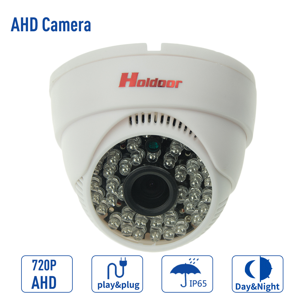 HD 720P Dome AHD Camera 1/4 CMOS 48Pcs Leds Night Vision IR 20M 1.0MP Security CCTV ahd Camera Indoor Use Plug and Play free shipping hot selling 720p 20m ir range plastic ir dome hd ahd camera wholesale and retail