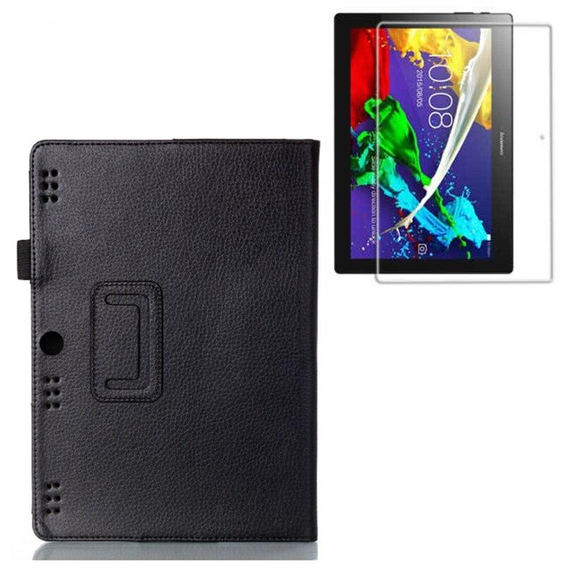 """Luksuslik Folio Stand nahast kaitsekaane + 1x selge ekraani kaitsja Lenovo Tab 2 A10-70 Tab2 A10-70F / L 10.1 """"tahvelarvuti"""