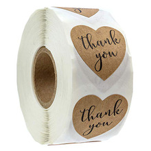home kitchen wedding decoration accessories stickers brown Foil Thank You for Your Purchase gift tags / 500 Labels/Roll 1inch