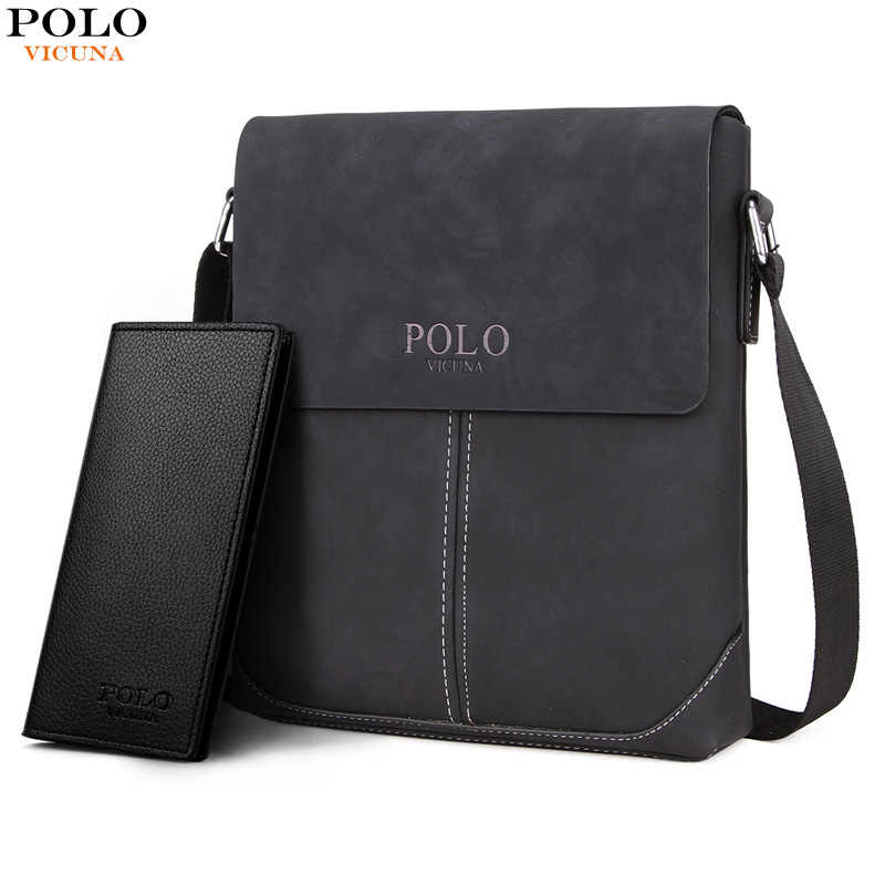 cb436868c476 VICUNA POLO New Collection Vintage Messenger Bags For Men Simple Business  Bags Casual Mens Shoulder Bag