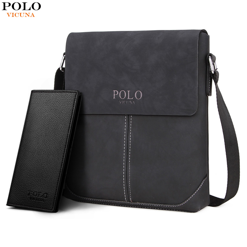 d4363b4254 VICUNA POLO New Collection Vintage Messenger Bags For Men Simple Business  Bags Casual Mens Shoulder Bag Soft Leather Handbags