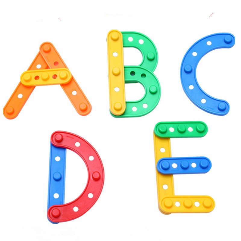 High Quality DIY Strip shape Spelling Building Blocks Children Gift Baby Kids Toy Educational Baby Early Education Toys ...