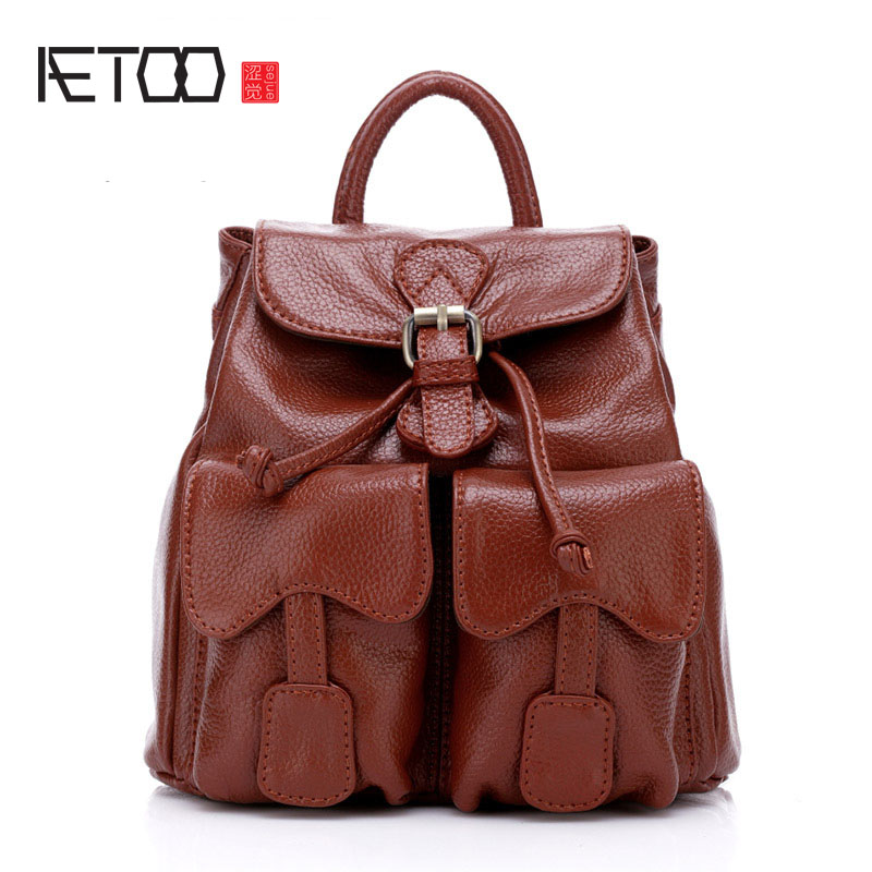 AETOO Leather spring and summer new leather ladies shoulder bag casual section