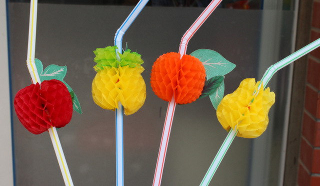 Fruit Style Straws 100 pcs/lot