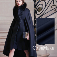 Limited hot sale Elegant purplish blue double face high end cashmere wool fabric for coat tissu au meter bright cloth DIY