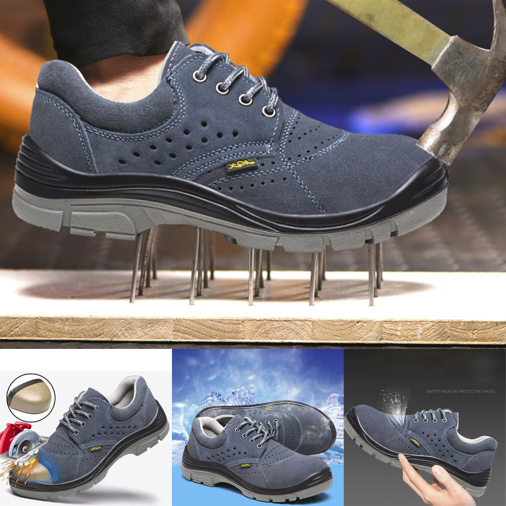 Men's Steel Anti-Smashing Sneakers Breathable Wear Resistant Safety Work Shoes