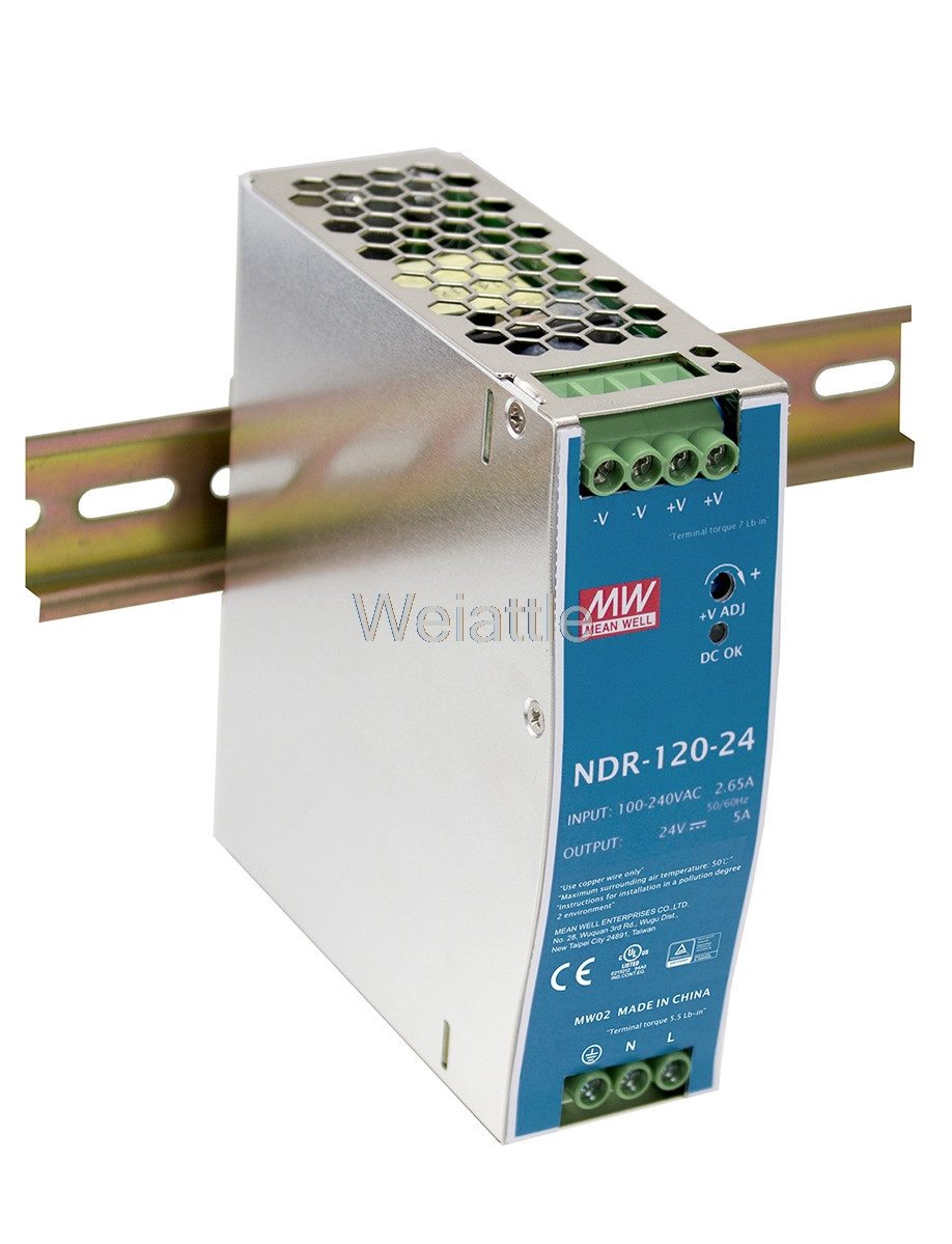 MEAN WELL original NDR-120-12 12V 10A meanwell NDR-120 12V 120W Single Output Industrial DIN Rail Power SupplyMEAN WELL original NDR-120-12 12V 10A meanwell NDR-120 12V 120W Single Output Industrial DIN Rail Power Supply