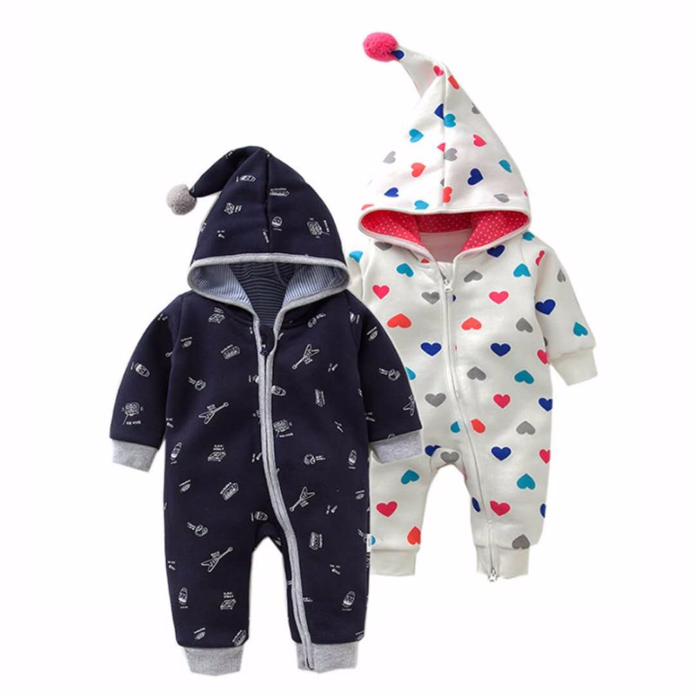 2018 Spring Baby Rompers Cotton Infant Boy Girl Hooded Jumpsuit Long Sleeve Newborn Baby Clothes Winter Baby Christmas Costumes infant baby clothes sets warm long sleeve rompers newborn boy girl sweater christmas costume deer plush hooded outwear kids suit