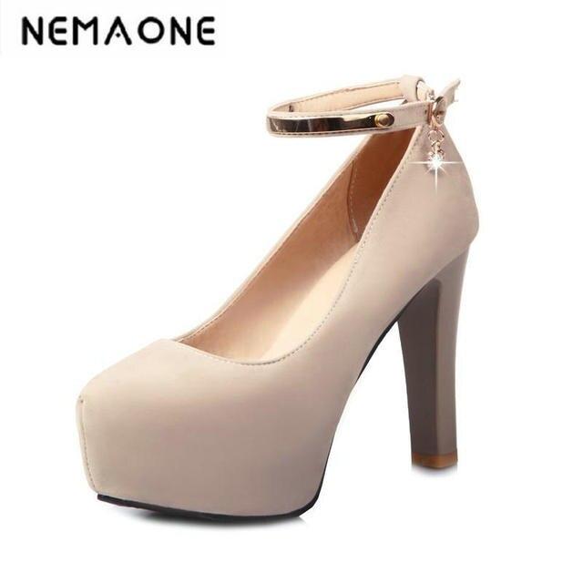 2e48b1822e 2018 nueva tacón alto Zapatos mujer Bombas boda Zapatos moda plataforma mujeres  Zapatos Tacones altos 11