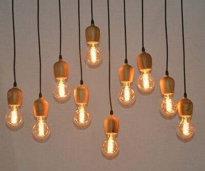 Lampadario In Legno Fai Da Te : Pz un lampadario legno e con interruttore manopola accessori