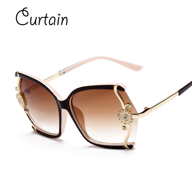 da893f12a478a Intage Large framed Butterfly Women Sunglasses Flower Fashion Sexy Shopping  Beach Travel Glasses Oculos De Sol