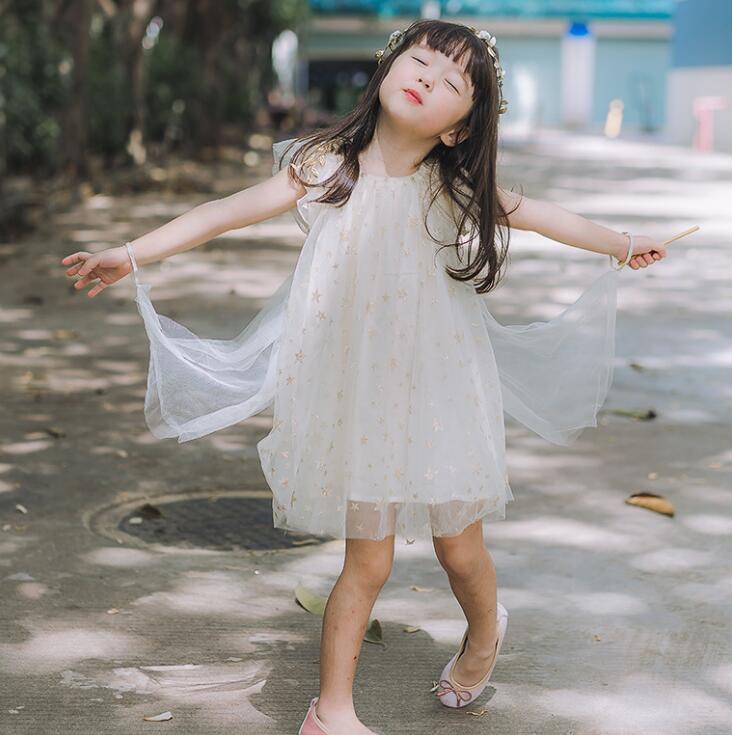2018 Baby Kinder Sommer Stern Mesh Flügel Kleider, Prinzessin Mädchen Nette Candy Kleid 4 teile/los, Großhandel-in Kleider aus Mutter und Kind bei AliExpress - 11.11_Doppel-11Tag der Singles 1