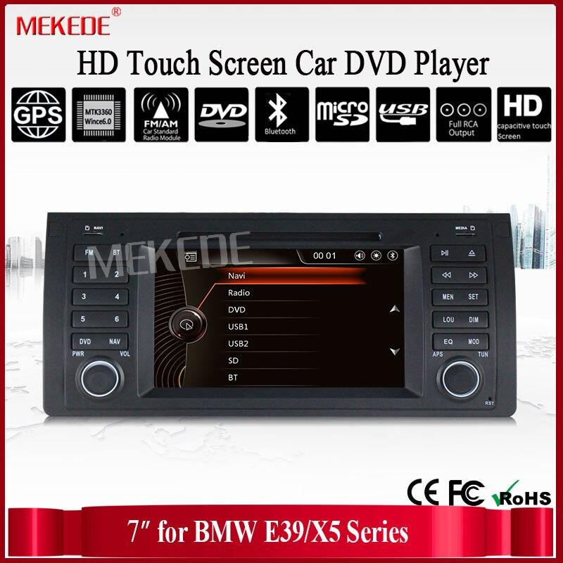 """imágenes para Envío libre 7 """"Pantalla táctil de Navegación Del Coche DVD Para BMW/E53 X5 E39 Con GPS Bluetooth de Radio RDS USB IPOD volante Canbus"""