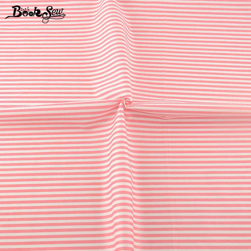Booksew 100% القطن حك الأفريقي أنقرة النسيج اللحف النسيج صبغ الوردي شرائط نمط DIY خليط الخياطة اللباس المواد 160