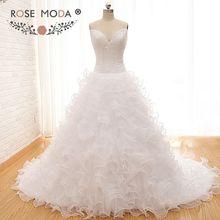 Rose Moda Luxury Pearl Ball Gown Wedding Dresses 2019