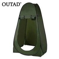 OUTAD Di Động Ngoài Trời Pop Up Tent Camping Vòi Hoa Sen Phòng Tắm Sự Riêng Tư Nhà Vệ Sinh Thay Đổi Phòng Nơi Trú Ẩn Chuyển Động Duy Nhất Folding Lều