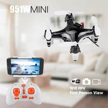 FQ777 951W 2.4GHz WIFI Mini Pocket Drone FPV 4CH 6-Axis Gyro Quadcopter with Camera LED lights 360 degrees rolling Drone Toy(China)