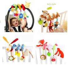 Мягкая детская кроватка кровать коляска игрушки спирали Игрушки для маленьких детей для новорожденных автокресло висит развивающие игрушки погремушка для Рождественский подарок