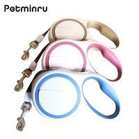 Petminru High Grade Stable Durable Automatic Retractable Dog Traction Rope Leashes Pet Leads
