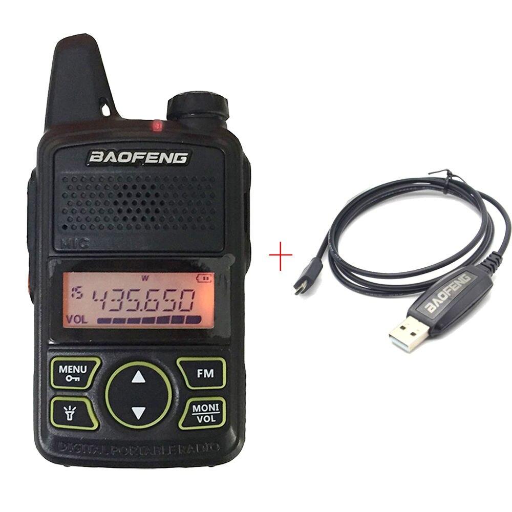 Baofeng T1 à deux voies radio mini UHF 400-470 mhz 20CH Portable Jambon FM CB Radio De Poche Émetteur-Récepteur radio équipement