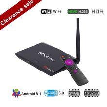 Android 8,1 tv Box Mx9 Pro 4G ram 32 GB rom RK3328 четырехъядерный 2,4G/5G двойной Wi-Fi Bluetooth Smart tv Box 4 K медиаплеер PK X96 mini