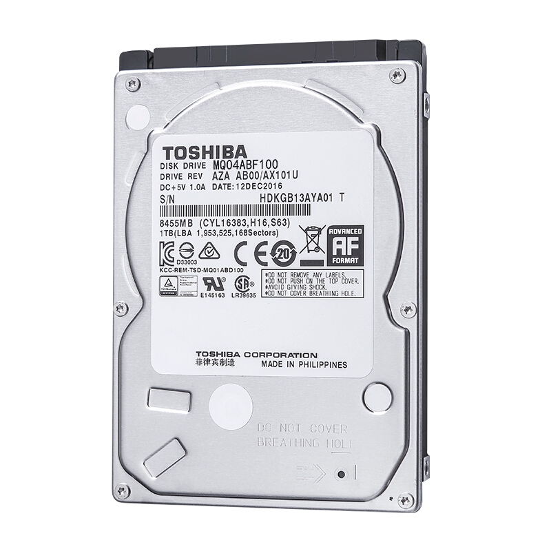 "TOSHIBA 1TB 2.5"" Hard Drive Disk Internal HD HDD 5400RPM 128MB Cache 2.5"" SATA3 for Notebook Laptop MQ04ABF100"