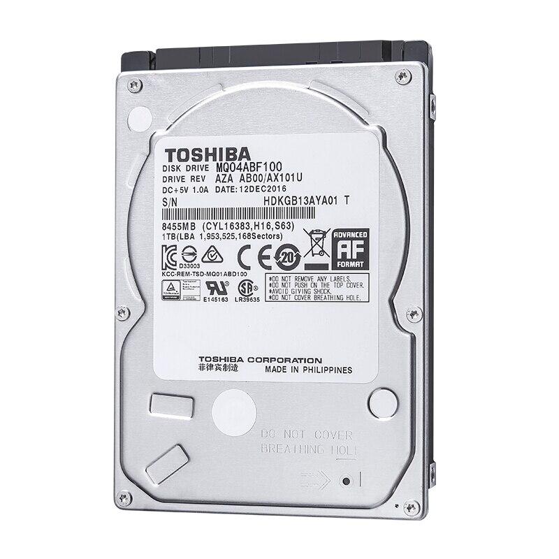 "TOSHIBA 1 to 2.5 ""disque dur interne HD HDD 5400 tr/min 128MB Cache 2.5"" SATA3 pour ordinateur portable MQ04ABF100"