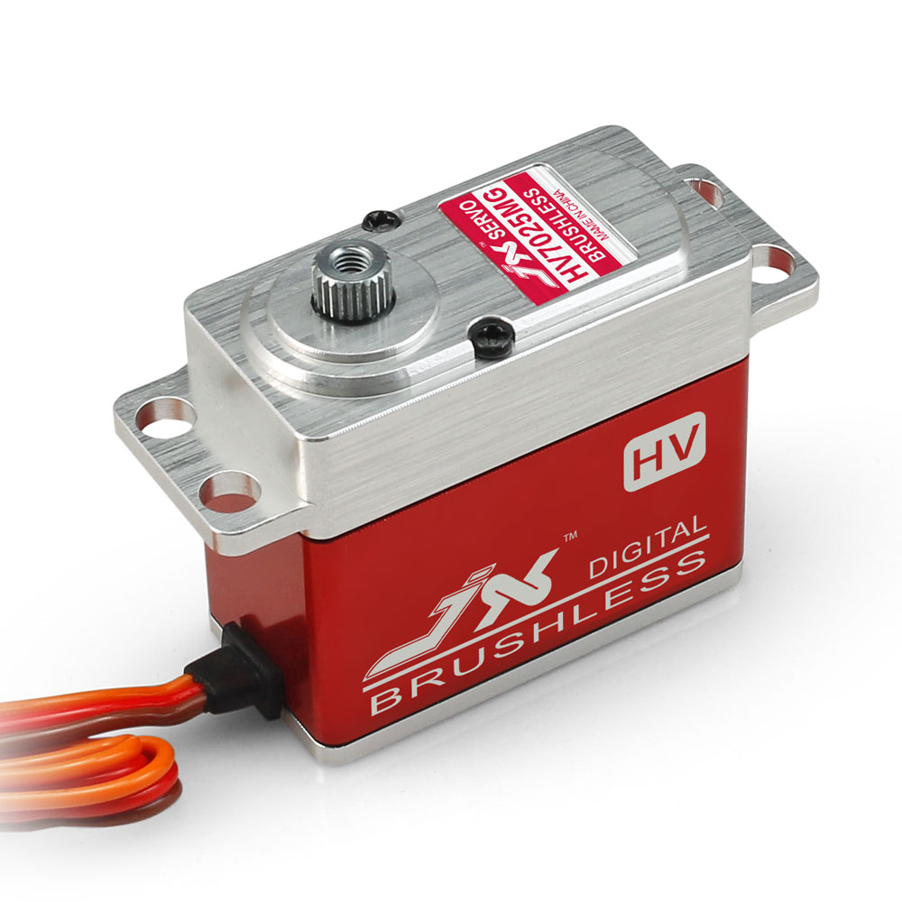 JX Servo/BLS - HV7025MG / 25 kg large torsion metal teeth all CN high-voltage brushless digital Servo jx servo pdi 7216 mg kg 16 large torque moment all metal shell digital hollow glass of steering gear