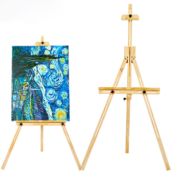 vivcor 155cm wood yellow pine adjustable artist painting easel for painting display holder frame art painting - Display Easel
