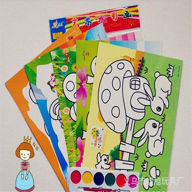 Dibujos De Ninos Dibujos Para Colorear Con Acuarelas Para Ninos