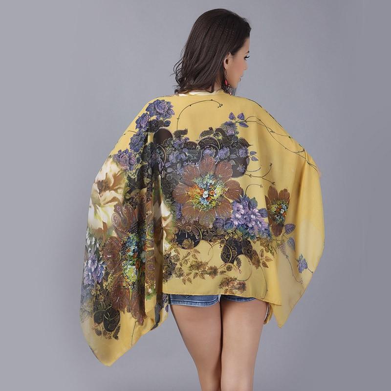 HTB1O FLLXXXXXcPXVXXq6xXFXXXV - Boho Batwing Sleeve Chiffon Blouse Women Casual Floral Kimono Shirts