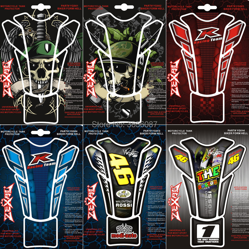 FASP Motorbike Fuel Tank Pad common soldier deaths-head Mechanics modi-auto 46 Rossi Fit All riding motorcycle fuel tank