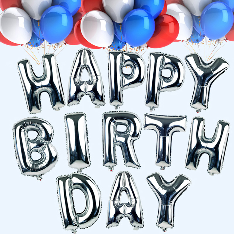 1pc 16 inch inflatable foil balloon a z letters for choose globos for cumpleanos birthday mylar party