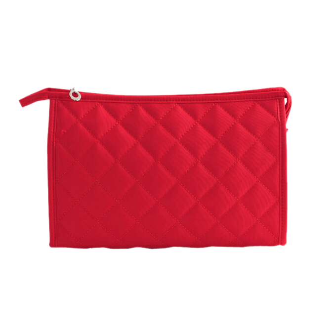Women Zipper Closure Small Cosmetic Case Makeup Bag - Red Size S tommy hilfiger new poppy red women s small s ribbed crewneck sweater $89 043